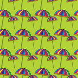 Cute colorful umbrellas. Seamless pattern with cute colorful umbrellas. Vector background royalty free illustration