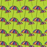 Cute colorful umbrellas. Stock Photo