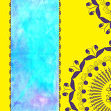 Cute colorful yellow watercolor card or invitation Stock Images
