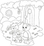 Cute coloring bears royalty free illustration
