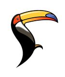 Cute colourful cartoon toucan Stock Photo