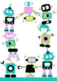 Fun Robots Border Royalty Free Stock Images