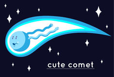 Cute comet Royalty Free Stock Photography