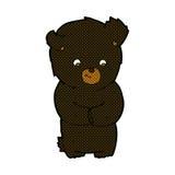 Cute comic cartoon black bear Stock Photo