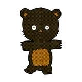 Cute comic cartoon black bear Royalty Free Stock Photography
