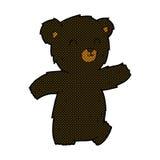 Cute comic cartoon black bear Stock Images