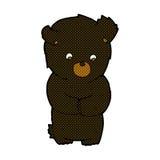Cute comic cartoon black bear Royalty Free Stock Photos