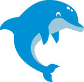 Cute comic dolphin Stock Photography