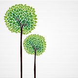 Cute concept trees design Stock Image