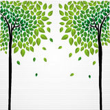 Cute concept trees drawing Royalty Free Stock Image