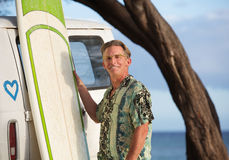 Cute and Confident Surfer Royalty Free Stock Images