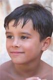 Cute Content Summer Boy Stock Image