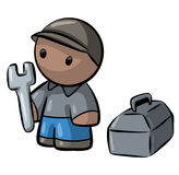 Cute Contractor Man Cartoon Stock Photo