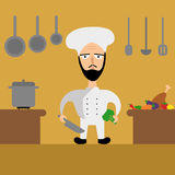 Cute cook chief vector illustration Royalty Free Stock Photo