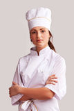 Cute Cook Girl Royalty Free Stock Photography