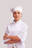 Cute cook girl Stock Photos