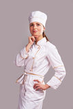 Cute cook girl Stock Image