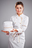 Cute cook girl Royalty Free Stock Images