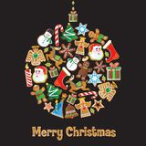 Cute Cookie Christmas Ornament Stock Images