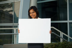 Cute Corporate Professional Placard Front H Stock Images