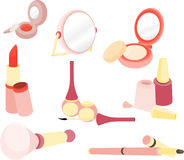 Cute cosmetics Stock Images