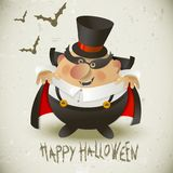 Cute Count Dracula.  Halloween design background. Stock Images