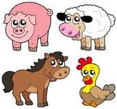 Cute country animals collection Stock Photos