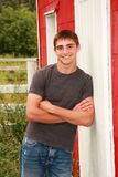 Cute Country Boy Senior Portrait Stock Photos