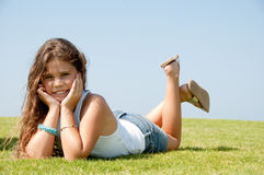 Cute country girl Royalty Free Stock Photos