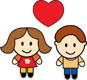 Cute couple royalty free illustration