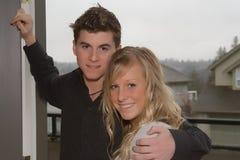 Cute couple. Cute teenage couple Stock Photo