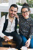 Cute couple in a bar Royalty Free Stock Photo