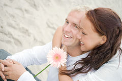 Cute couple on the beach Stock Images