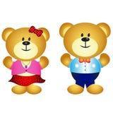 Cute Couple Bear Royalty Free Stock Photography