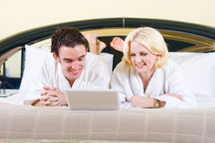 Cute couple in bed Royalty Free Stock Photo