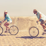 Cute couple on a bike ride Stock Photos