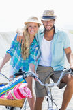 Cute couple on a bike ride Stock Image