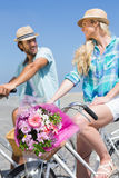 Cute couple on a bike ride Royalty Free Stock Images