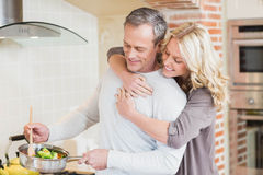 Cute couple cooking Royalty Free Stock Photo