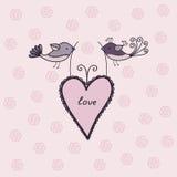 Cute couple of cute birds. Beautiful couple of cute birds Royalty Free Stock Image