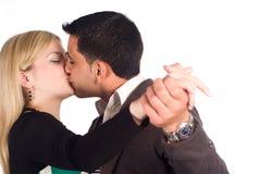 Cute couple dancing Stock Photos
