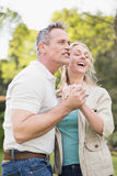Cute couple dancing and holding hands Royalty Free Stock Image