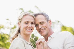 Cute couple dancing and holding hands Royalty Free Stock Photography