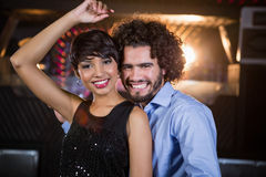 Cute couple dancing together on dance floor Royalty Free Stock Photos