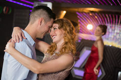 Free Cute Couple Dancing Together On Dance Floor Royalty Free Stock Photography - 78706197