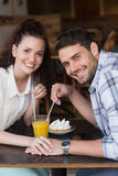Cute couple on a date Stock Images