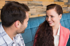 Cute couple on a date Royalty Free Stock Image