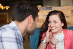 Cute couple on a date Stock Image
