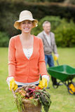 Cute couple doing some gardening Stock Photos