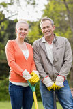 Cute couple doing some gardening Royalty Free Stock Images